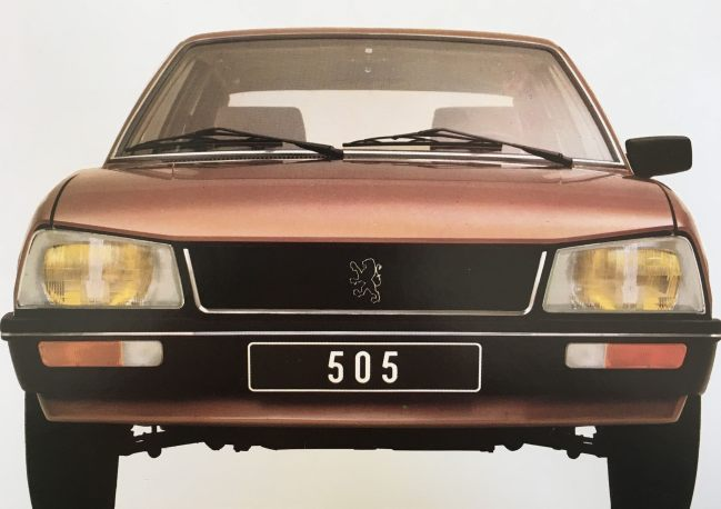 Catalogue Peugeot 505 1980