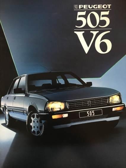 Catalogue Peugeot 505 V6