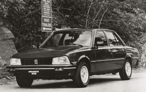 Peugeot 505 USA - la gamme 1985