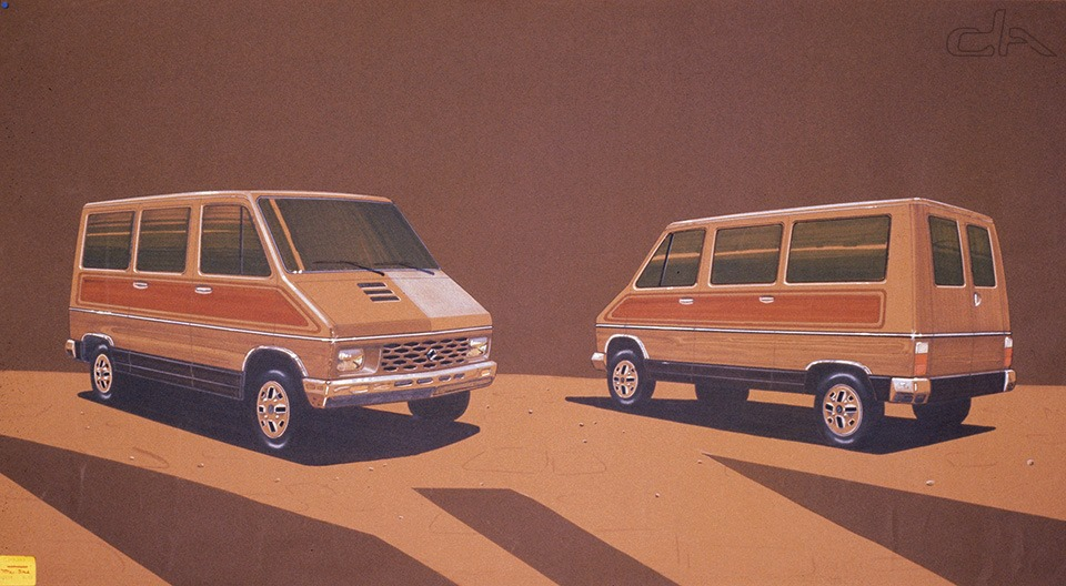 Renault Trafic - étude de style - Renault Communication Droits Réservés / Car Design Archives