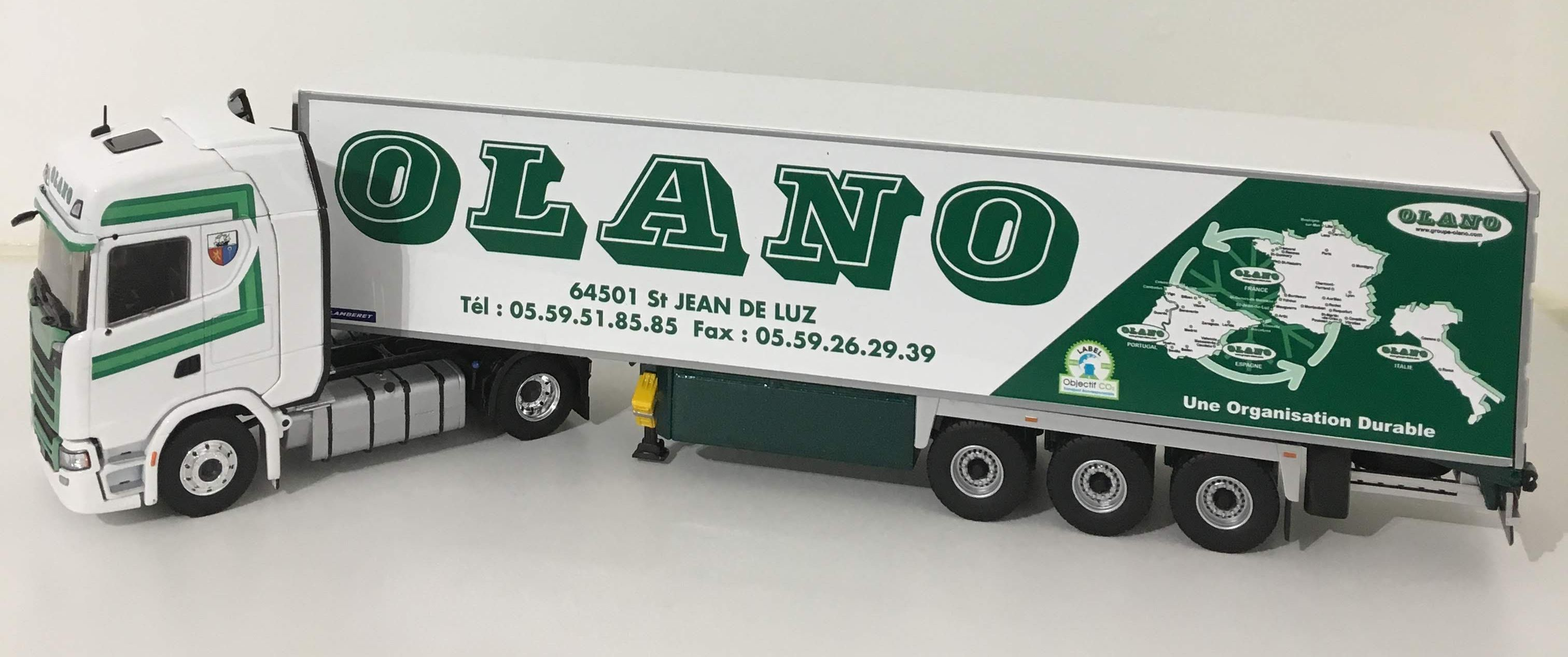 Echelle 1//43 EL 116398 Scania S450 Semi Frigo Lamberet OLANO ELIGOR