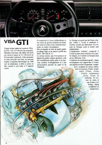 Visa GTI 115 ch - extrait du catalogue