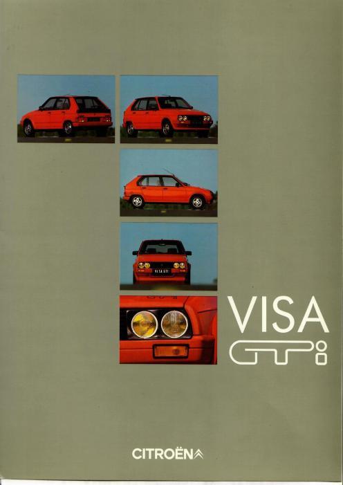 Le dossier de presse de la Visa GTI