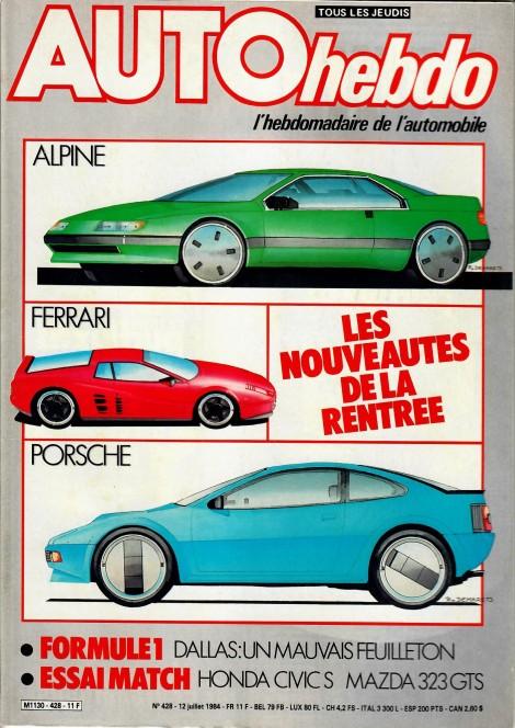 Le Rallye des 1000 Pistes 1984 dans le magazine Auto Hebdo